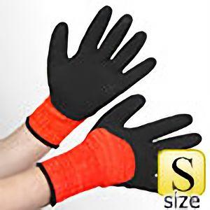 アクリル裏起毛ナックル 作業手袋 BL−321400 杢オレンジ S