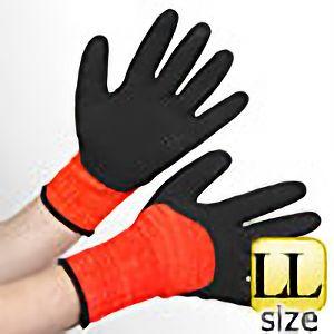 アクリル裏起毛ナックル 作業手袋 BL−321400 杢オレンジ LL