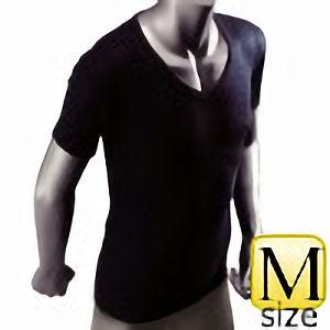 防寒 サーモアンダーシャツ 半袖Vネック (黒/Mサイズ) WT−211−1BK